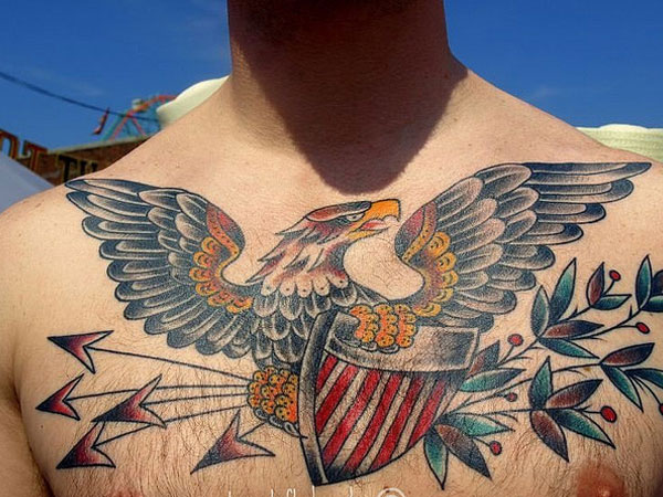 eagle 37 Exceptional Chest Tattoos For Men
