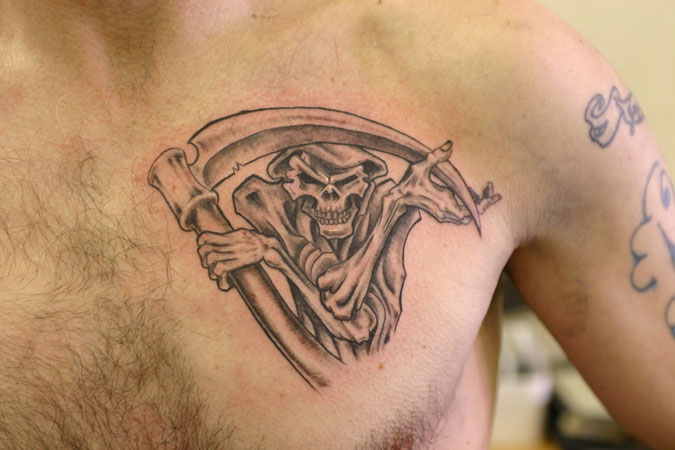 reaper 37 Exceptional Chest Tattoos For Men