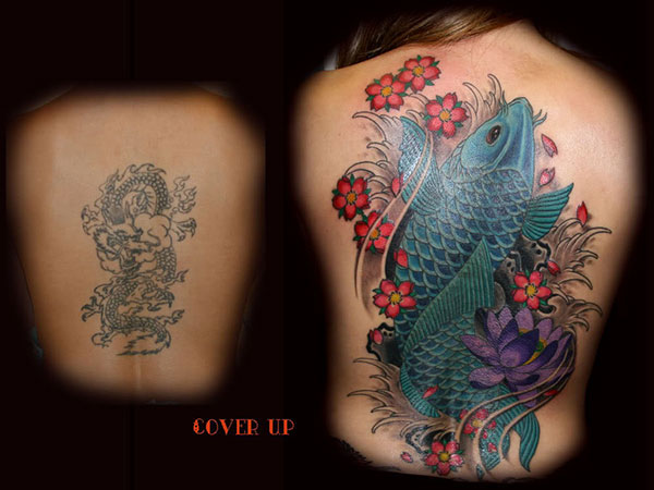 back piece cover up 28 Graceful Cover Up Tattoo Ideas