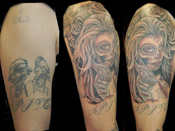 cover up zombie girl 28 Graceful Cover Up Tattoo Ideas