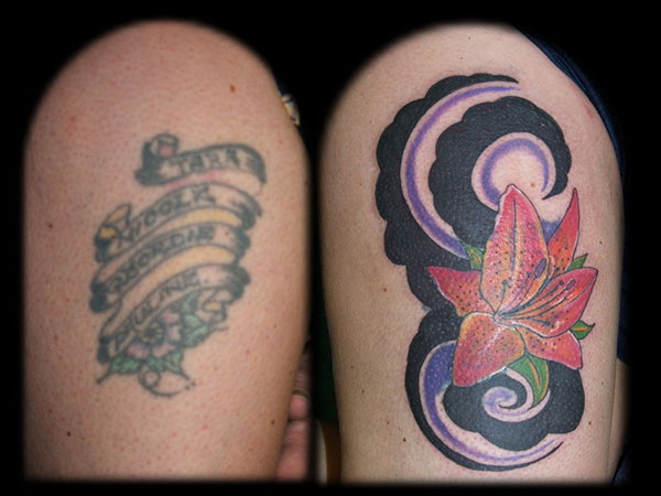 thigh tattoo cover up 28 Graceful Cover Up Tattoo Ideas