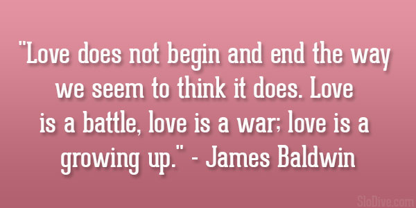 James Baldwin Quote