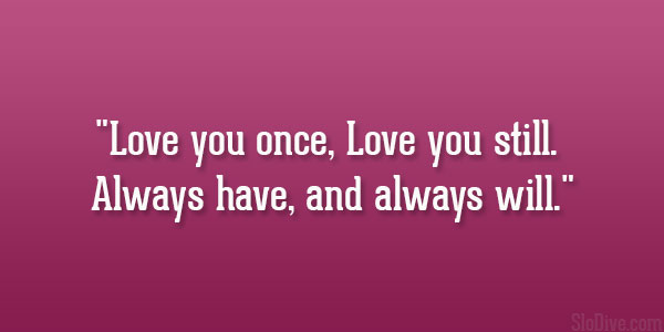 Love You Once