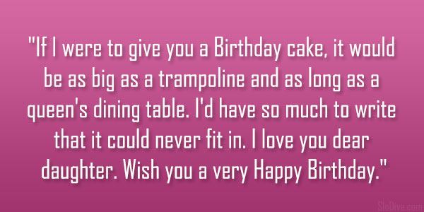 Birthday Cake Quotes For Daughter