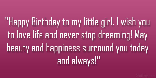 Birthday Quotes Loving Daughter Slodive