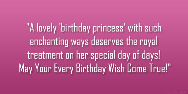 happy birthday princess quotes