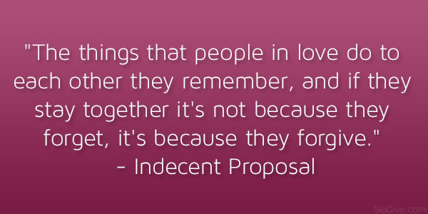 The things that people in love do to each other they remember, and ...