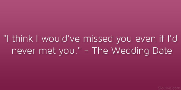 The Wedding Date Quote