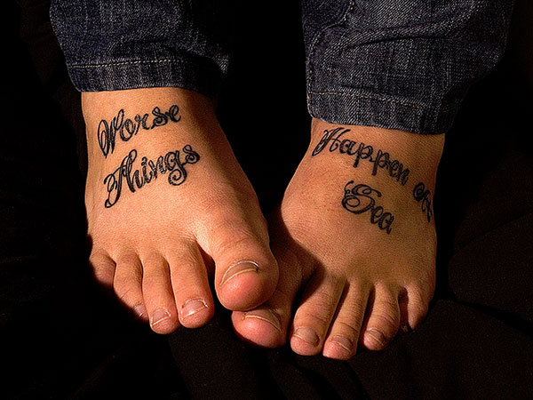 noelle foot tattoo 25 Refined Foot Tattoos Quotes
