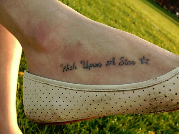 wish foot tattoos 25 Refined Foot Tattoos Quotes