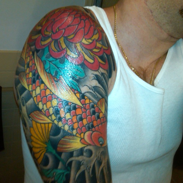 26 Colorful Half Sleeve Tattoo Ideas For Men
