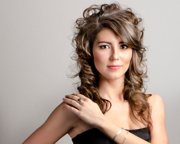 Half Up Hairstyle With Locks