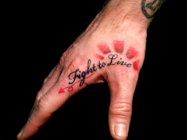 Hand Tattoos Writing Notable quotations