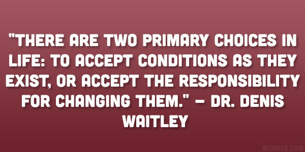 Dr. Denis Waitley Quote