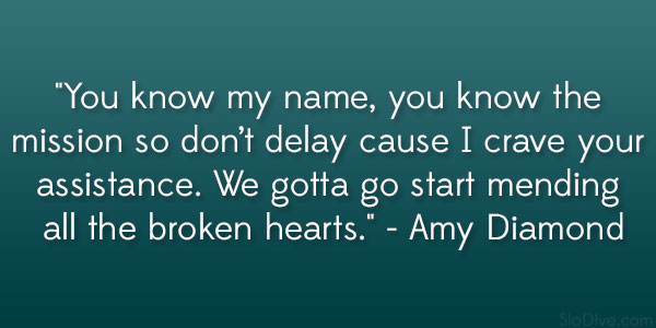 Amy Diamond Quote