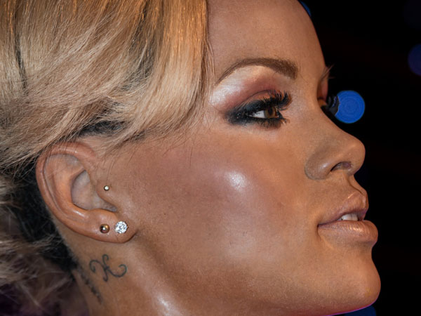 Rihanna Ear Tattoo