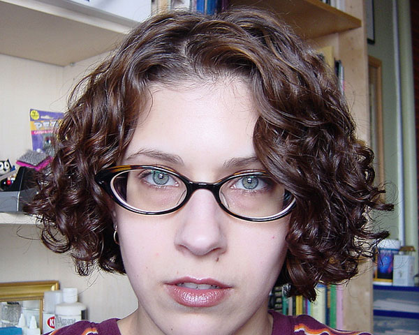 Thick Curly Hairstyle