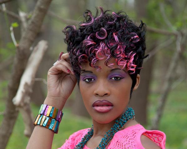Fun Pink Afro Style