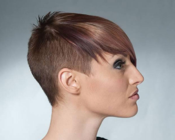 Short haircuts half shaved short hairstyles hip hop and stylish half shaved haircut haircut which is pixie haircut and in this haircut makes them more description for half long and half short urmus Images