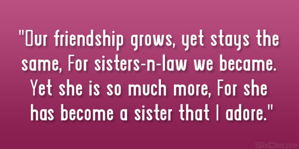 Family Quotes Compelling Sister In Law Slodive