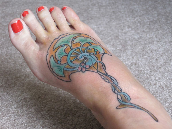 Intriguing Foot Tattoo