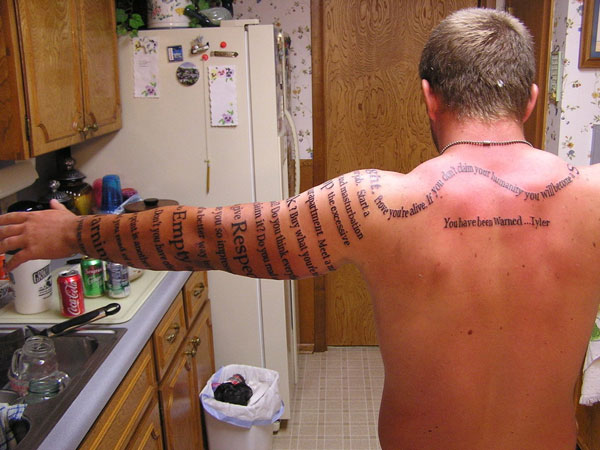 Body Quote Tattoo