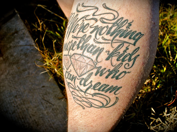 calf tattoo 31 Precious Tattoo Quotes For Men