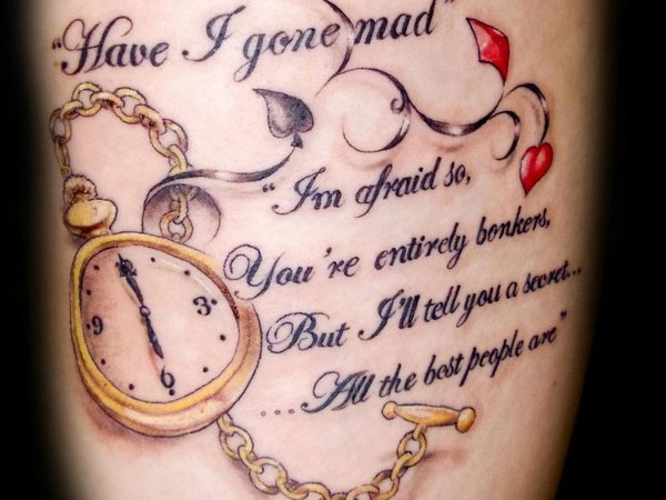 chest writing 31 Precious Tattoo Quotes For Men