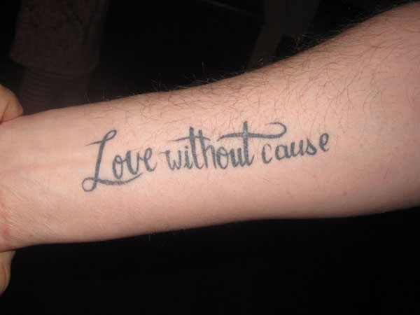 die love 31 Precious Tattoo Quotes For Men