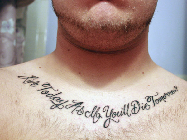 Tattoo Quotes For Men 31 Precious Collections Slodive