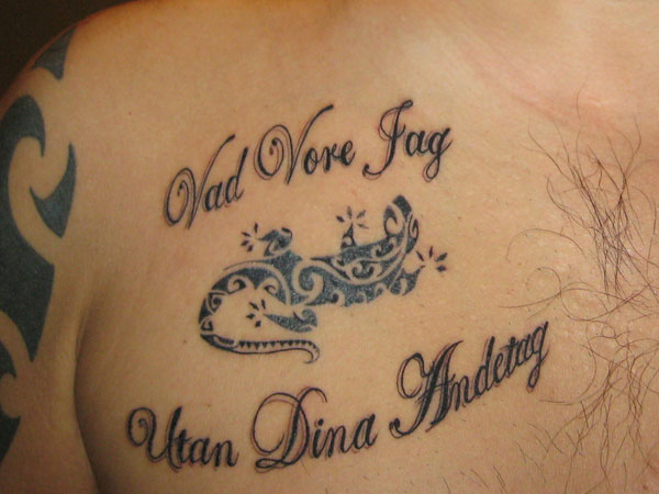lizard tattoo 31 Precious Tattoo Quotes For Men