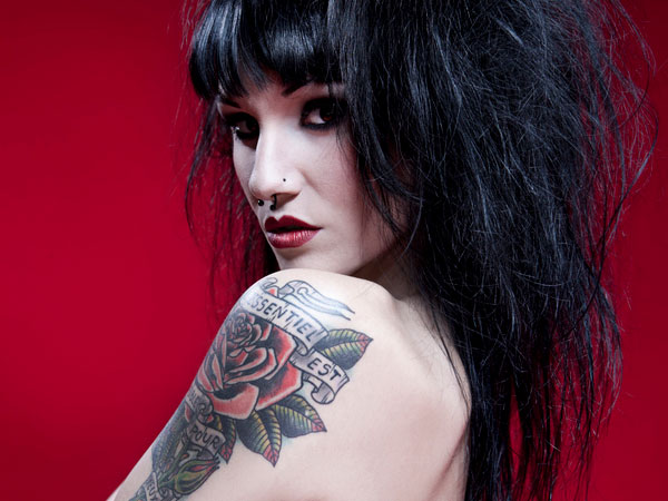red rose 26 Risque Tattoos For Girls For 2013