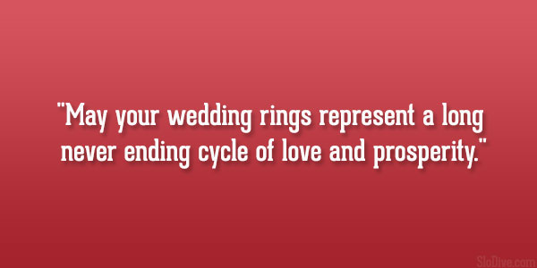 Never Ending Cycle May Your Wedding Rings