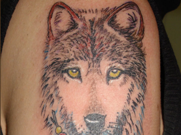Catchy Wolf Tattoo