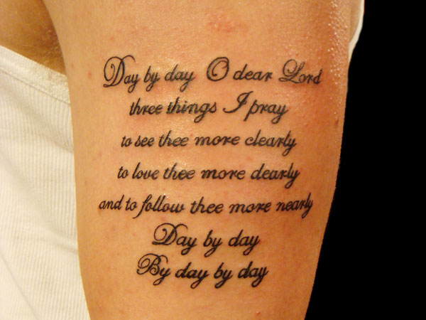 Upper Arm Tattoo Words