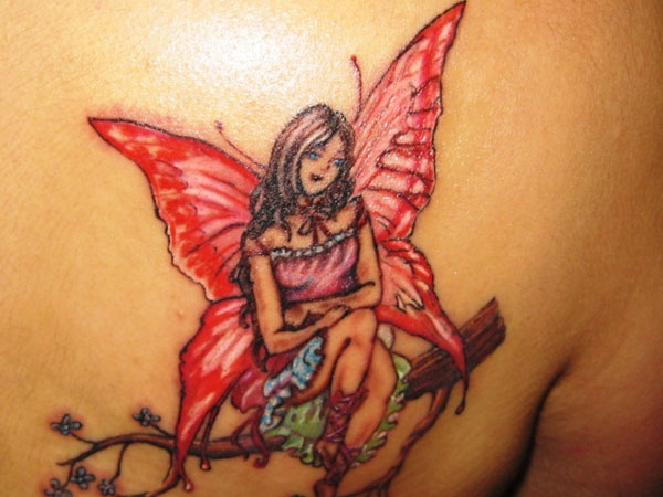 Red Butterfly Angel