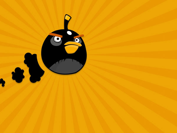 Angry Birds Golden Backdrop