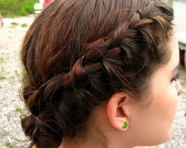 Braid Back Knot Hairstyle