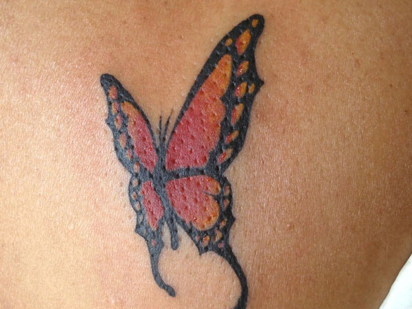 Female Butterfly Tattoo Design