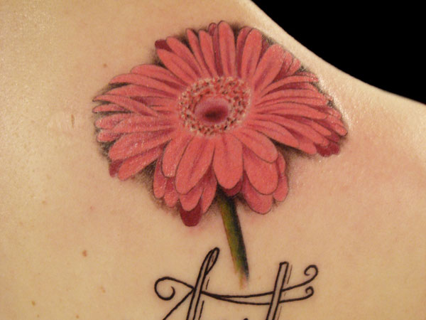 Female Flower Tattoo