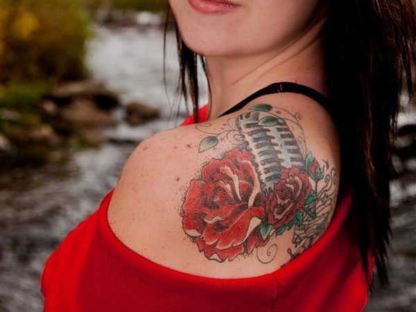 Female Music Love Tattoo