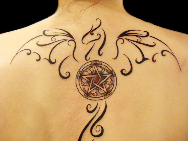 Female Design Dragon Tattoo