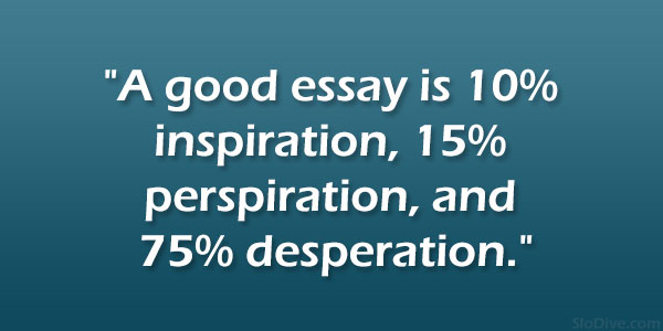 Quotes about writing essays