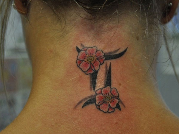 blossoms 24 Striking Gemini Tattoos For 2013
