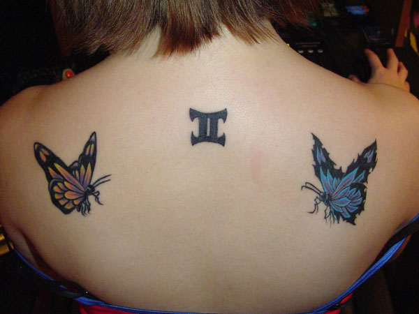 butterflies 24 Striking Gemini Tattoos For 2013