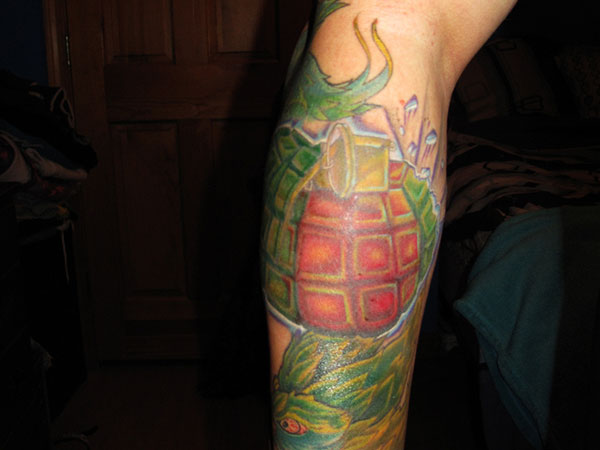 Green Monster Grenade Tat