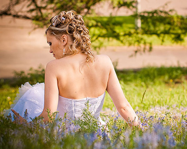Curls View Wedding Hairstyle