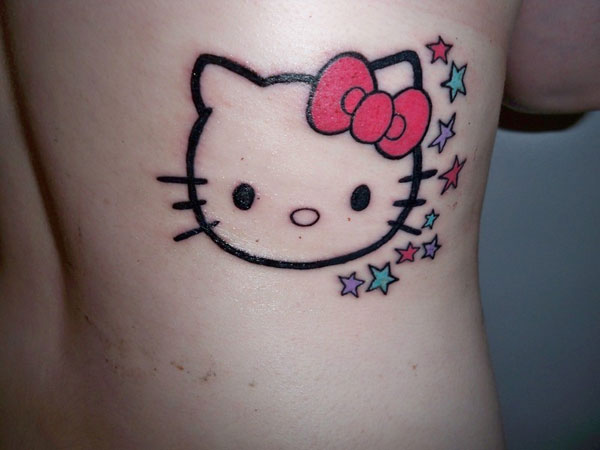 Hello Kitty Bow Tattoo Foot Bows N Stars