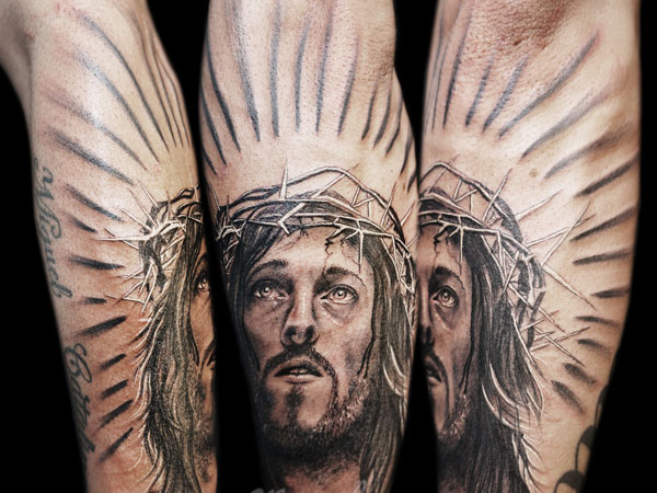 Crown Of Thorns Jesus Tattoo