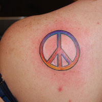 24 Relaxed Peace Sign Tattoos For 2013